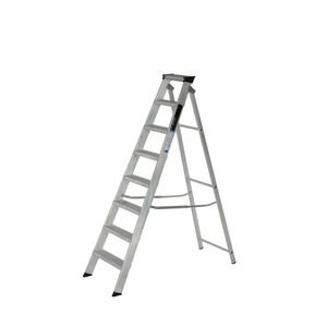 308996 8 Tread Aluminium Builders Steps