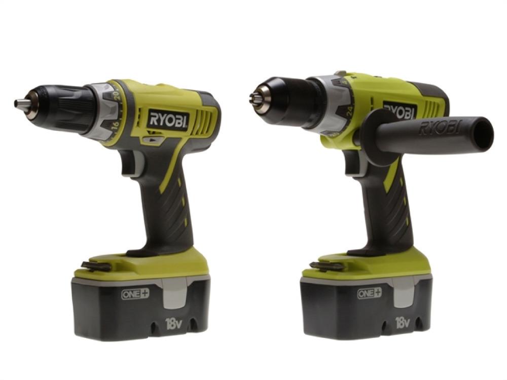 Ryobi Drill Twin Pack Deal In Bag