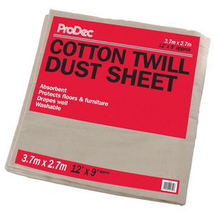 Dust Sheet Cotton 3.6X2.7M 12X9'